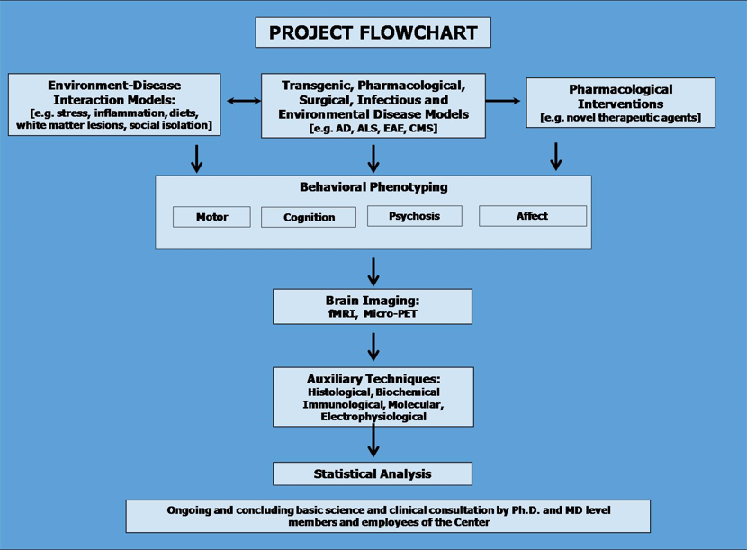 Hadassah brainlabs project flowchart hadassah brainlabs provides a comprehensive service for studying disease models in rodents ccuart Image collections